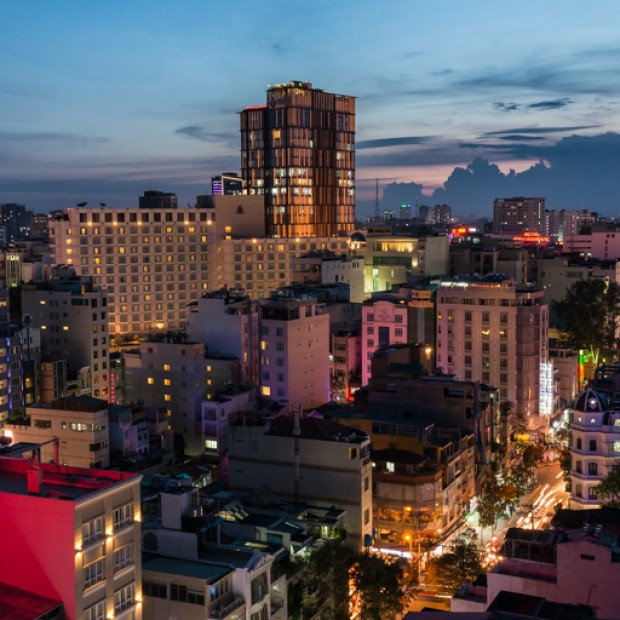 VIETNAM – Rooftop view of Hô-Chi-Minh