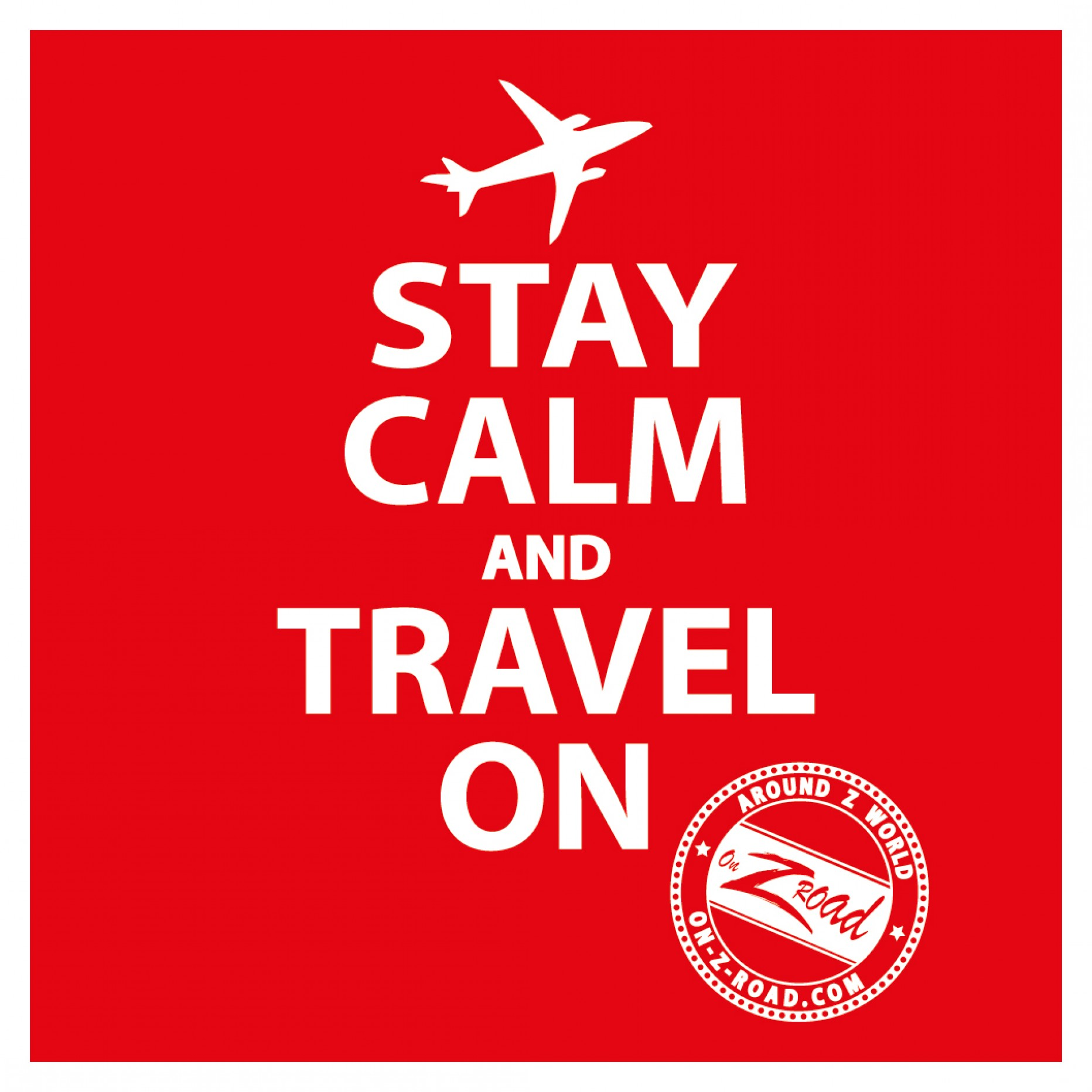 Stay calm and travel on